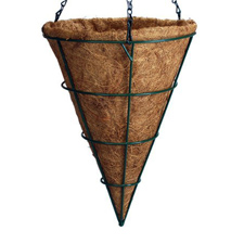 Hanging Cone Basket With Coco Mat
